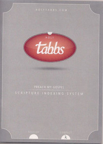 HolyTabbs Scripture Indexing System for Bible and Triple Combination Reg *