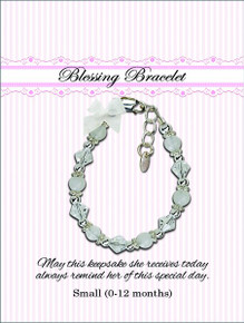 Sterling Silver Blessing Bracelet White *