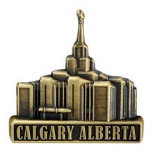 Calgary Alberta Temple Pin Silver Gold *