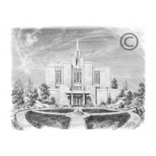 Calgary Alberta Temple Sketch 3x4