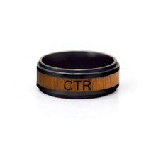 Frontier CTR Ring (Ceramic With Wood Inlay)*