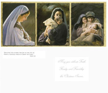Triptych Christmas Cards 9.25 X 4 -  18 pk *