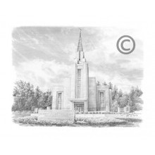 Vancouver Canada Temple Recommend Holder *