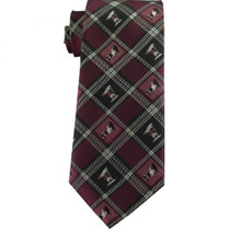 Captain Moroni Burgundy Plaid Boy Zipper Tie ages 4-10