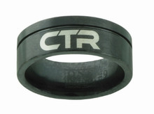 Black Jack CTR Ring (Black Diamond Ceramic W/ Silver inlay) *