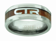 Duo CTR Ring (Titanium Ion Wood and steel CTR Inlay)  *