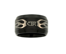 Ignitor Flames CTR Ring  (Black Tungsten Carbide)  *