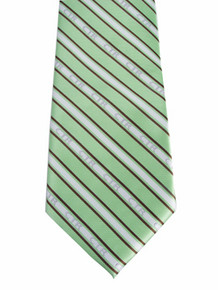 Tie, CTR Men's Striped Green/Brown *