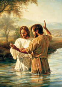 Baptism of Christ by Greg Olsen Greeting Card*
