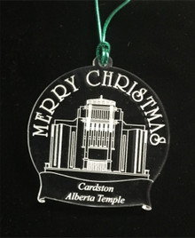 "Cardston Temple Christmas Ornament- Plexi"" *"