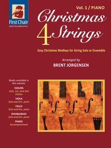 Christmas 4 Strings - Vol.1 - Piano Accompaniment (Paperback) *