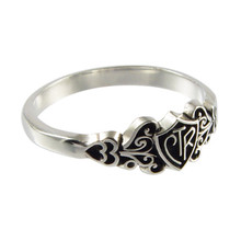 Filigree CTR Ring (Antiqued Sterling Silver)