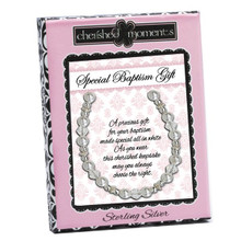 Sterling Silver Baptism Bracelet with Pearls *