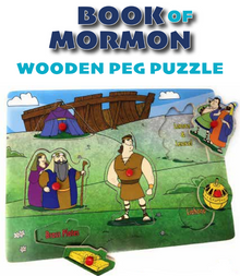 Book of Mormon Wooden Peg Puzzle*