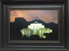 Cardston Temple Canvas - 15x20 framed Hank DeLespinasse