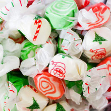 Christmas Holiday Salt Water Taffy by Sweets Candy Co.  3 pound Bag