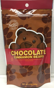 Chocolate Covered Cinnamon Bears 5.0 Ounce Bag by Sweets Candy Co.