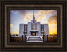 Calgary Temple - Gold Sunbursts 21x17 framed giclee canvas