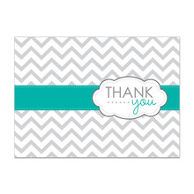 Thank You Greeting Card with Chevron Pattern