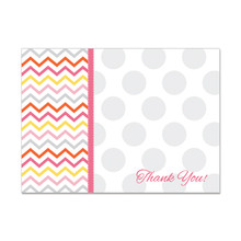 Thank You Greeting Card with Dot Pattern