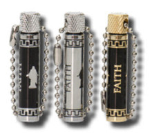 Christus/Faith Oil Vial - Black/Silver *