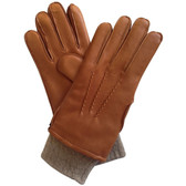 Hilts-Willard Men's Chester Cashmere Cuff Deerskin Gloves (Taupe)