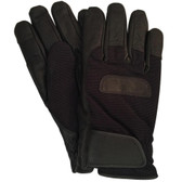 Hilts-Willard Men's Leather Ski Snowboard Gloves (Black)