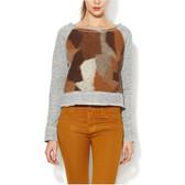 DOLAN Cropped Wool Raglan Sweatshirt Pullover Sweater