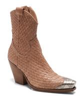 Free People Woven Brayden Western Ankle Boot (Latte)