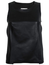 MM6 Lambskin Leather Tank