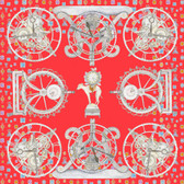 Swash Persian Clockwork Silk Scarf
