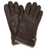 Dents Cashmere Cuffed Deerskin Gloves