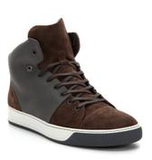 Lanvin Suede High Top Sneaker