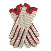 Dents Ladies Crochet Back Driving Gloves (Red)