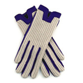 Dents Ladies Crochet Back Driving Gloves (Royal)