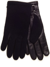 Lanvin Men's Cashmere Leather Gloves