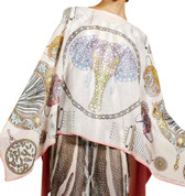 Swash Safari Sapphires Silk Cashmere Knit Cape Scarf