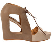 Matiko Paris Cutout Wedge Sandal (Tan)