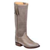 Lucchese Sharon Suede Riding Boot (Grey)
