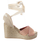 Missoni Open-Toe Ankle Wrap Espadrille Wedge