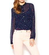 Mara Hoffman Sheer Silk Star Blouse