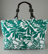 Vix Kakui Beach Tote with Beaded Handles
