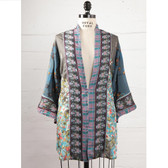 Johnny Was Silk Mix Kimono Top