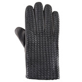 Hilts-Willard Men's Woven Lambskin Gloves (Black)