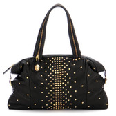 Be & D Studded Lambskin Satchel