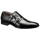 Lloyd 1888 Ryder Double Monkstrap Shoe (Black)