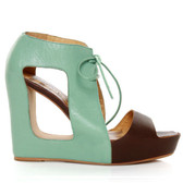 Matiko Paris Wedge Cutout Sandal (Blue)