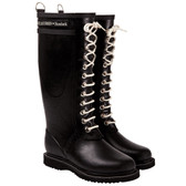 Ilse Jacobsen 'RUB 1' Rubber Rain Boot (Black)