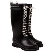 Ilse Jacobsen 'RUB 1' Rubber Rain Boot (Black)