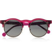 Carven Anastasie Flip-up Round Acetate Sunglasses (Pink)